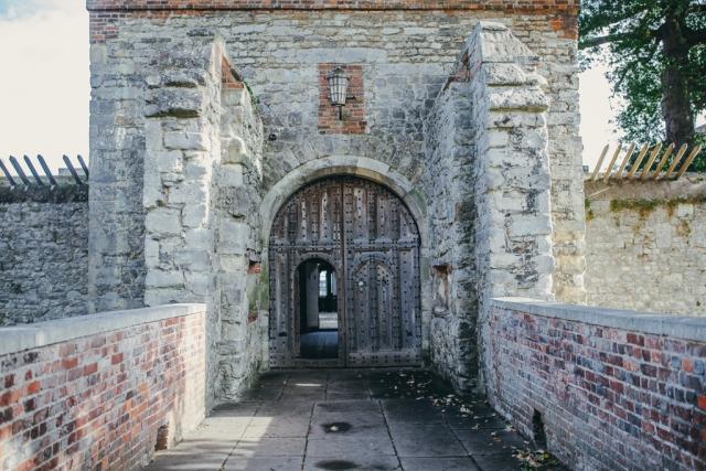 upnor castle clock tower main door entrance kent photography